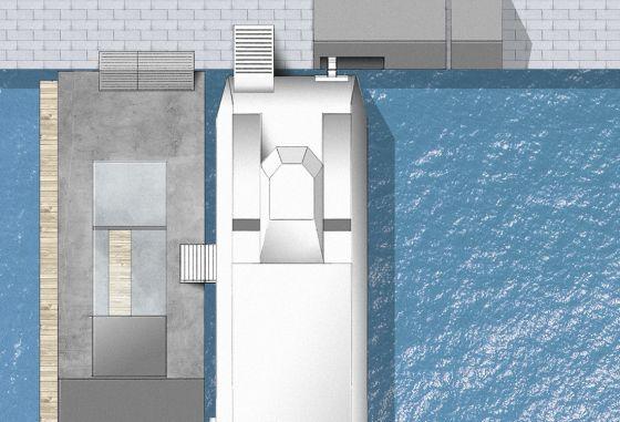 Wärtsila Urban Water Shuttle Dock sett ovenfra