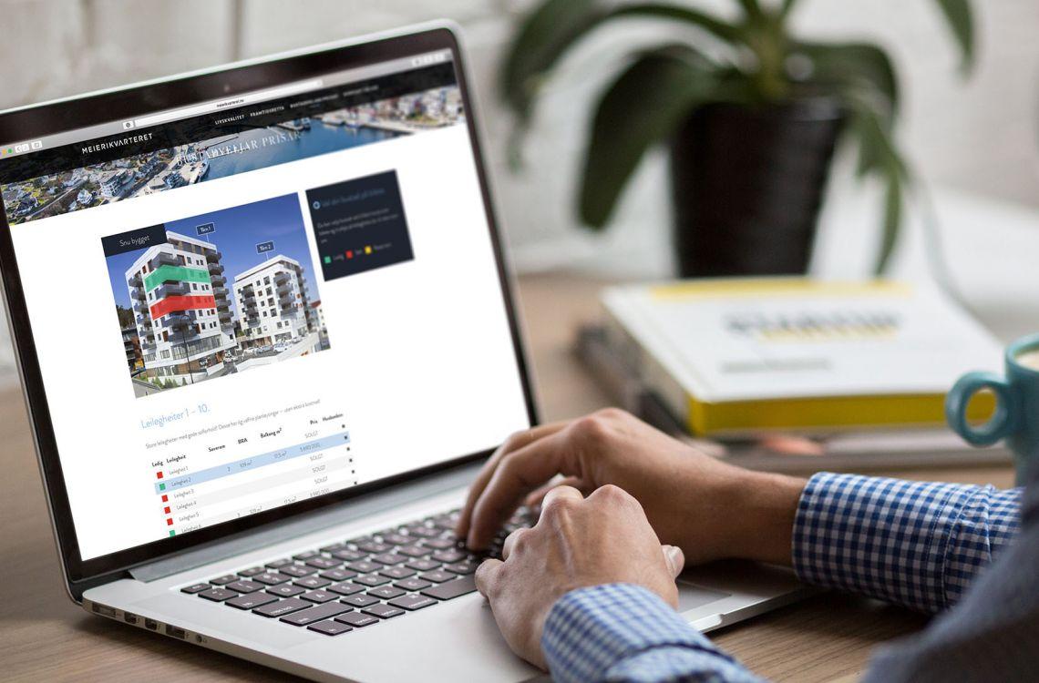 Meierikvarterets boligvelger på nett
